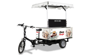 street food e-bike choco burger